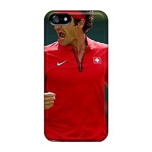 Apple Iphone 5/5s Kqk23789tref Provide Private Custom Stylish Federer Tennis London 2012 Olympics Image High Quality Cell-phone Hard Cover -JohnPrimeauMaurice