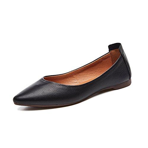 Paresseux Leather Sbl Plates Noir Noires Pour 37 Pointues Femmes Chaussures Pdale B8q8dCw