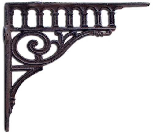 (Import Wholesales Cast Iron Wall Shelf Bracket Columns Rust Brown 11.375