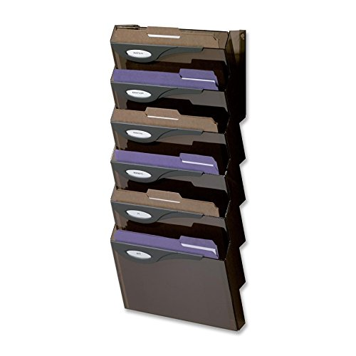 29.3'' Height x 13'' Width x 4'' Depth Smoke Rubbermaid Classic Wall File System Set (7/Set) -BOS-RUBL16663