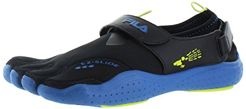 Drainage Slide EZ Men's Fila Skeletoes Black Blue gFqOwzR