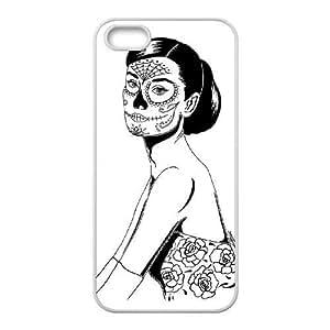 Diy TRDJGOO iPhone 5,5S Case, Zyoux Custom Cheap iPhone 5,5S Cell Phone Case - Zombie Audrey Hepburn