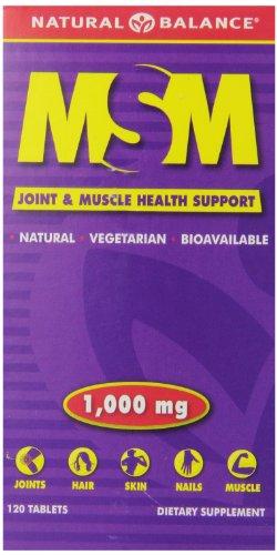 Natural Balance MSM Tablets, 1000 Mg, 120 Count