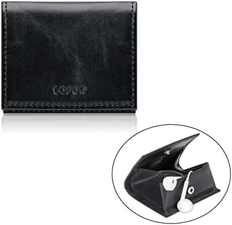LOPOO Genuine Leather Wallet Pocket-Size Wallet Earphones Case Coin Wallet