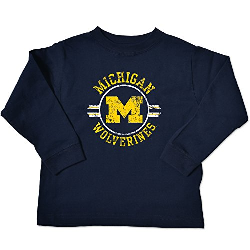 - NCAA Michigan Wolverines Toddler Long Sleeve Tee, 5/6 Toddler, Navy