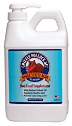 Grizzly Pollock Oil is rich in the Omega 3 and 6 fatty acids that are beneficial for skin and coat health, healthy joints, cardio health as well as for the nervous system and eyes. Sourced from sustainable Wild Alaskan Pollock with a high rat...