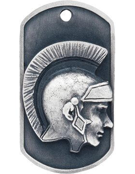 Embossed Mascot Dog Tag with Chain (Trojan/Spartan)