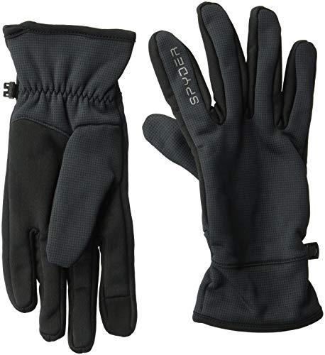 Spyder Men's Centennial Glove, Black/Black/Black, X-Large