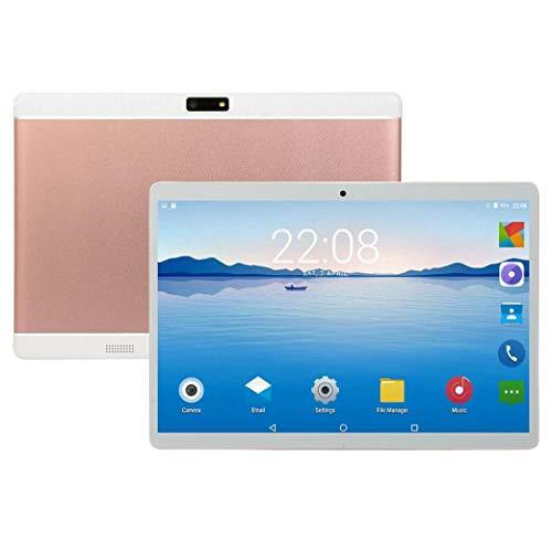 10,1-Zoll-Tablet 4 GB ROM 32 GB Android 7.0 1280 x 800 IPS Octa Core 4G Dual-SIM-Karte Telefonanruf GPS-Pad (Rosa)