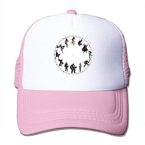 MZONE Unisex Snapback Cap Hats Cartoon Character Baseball Caps Pink (The Avengers Age Of Ultron Trailer 1)