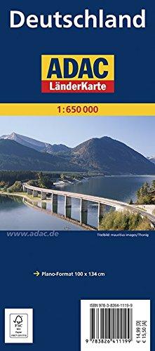 ADAC Länderkarte Deutschland plano 1:650.000