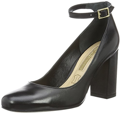 Buffalo Damen Zs 6454-16 Royal Vitello Soft Pumps Schwarz (nero 01)