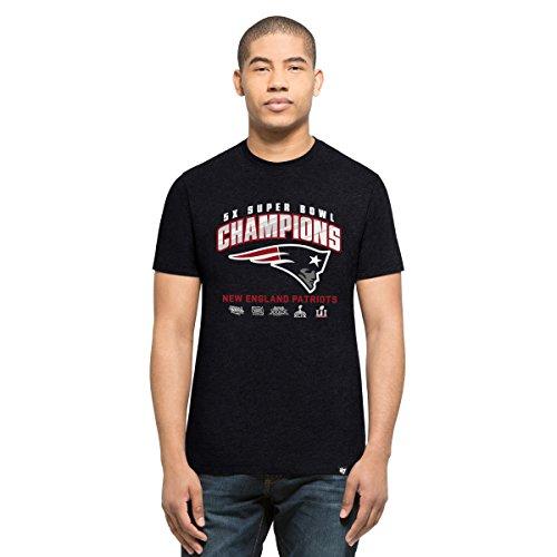 NFL New England Patriots Men's Super Bowl 51 Champions '47 Club Tee, Fall Navy/5X, X-Large (Super Bowl Champ Shirt)