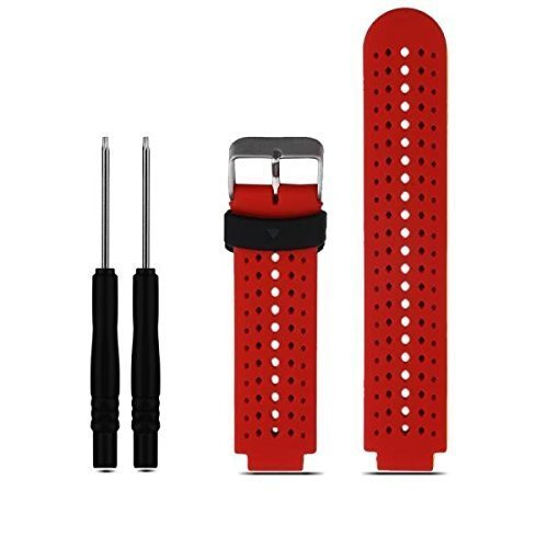 Soft Silicone Replacement Watch Band for Garmin Forerunner 235 / 220 / 230 / 620 / 630 / 735 Smart Watch (01 Red & Black)