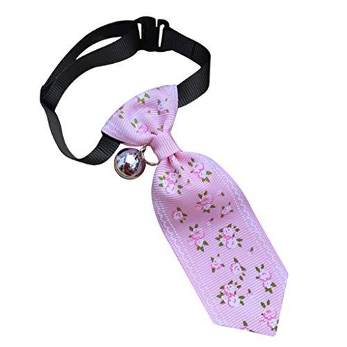 WFeieig Pet Decorate Clothing Dog Cat Animal Flower Print Tie Pet Adjustable Neck Tie Pet Decoration Collar