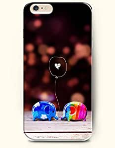 SevenArc Apple iPhone 6 Case 4.7 Inches - Love and Two Lovely Toy Elephants