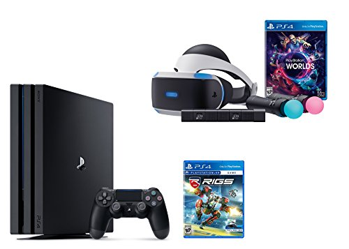PlayStation VR Launch Bundle 3 Items:VR Launch Bundle,PlayStation 4 Pro 1TB,VR Game Disc RIGS Mechanized Combat League