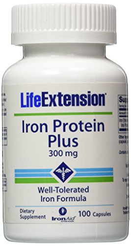 UPC 737870167716, Life Extension Iron Protein Plus 300mg Capsule, 100-Count