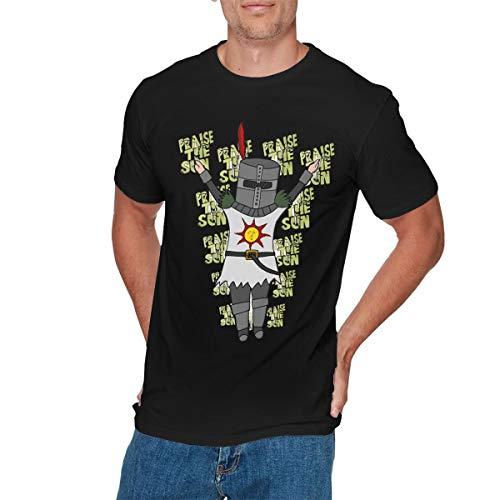 LIAM HENDERSON Mens Particular Dark Souls Praise The Sun Tshirt XL Black