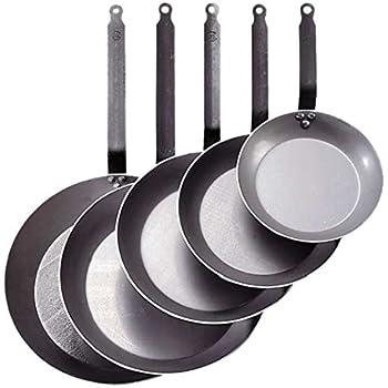 De Buyer Carbon Plus Steel Frying Pan, Dia. 11-7/8