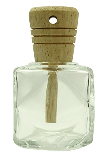 Clear Glass Star Diffuser Bottle With Wooden Caps Hanging Perfume Fragrance Empty Refillable Bottle- Pack Of 4