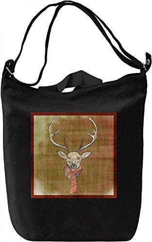 Winter Deer Borsa Giornaliera Canvas Canvas Day Bag| 100% Premium Cotton Canvas| DTG Printing|