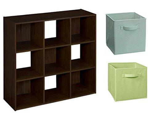 ClosetMaid Cubeicals 9 Cube Organizer In Espresso With ClosetMaid Fabric  Drawer, 2 Pieces In
