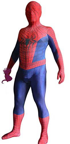 Cos-me The Amazing Spiderman 2 Red Tutorial Dimensional Lycra Suit Cosplay Costume