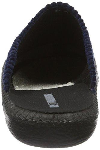 Romika Herren Mokasso 220 Pantoffeln | Echtleder-Pantoffeln für Herren | Bequeme Cord-Slipper Aus Frottee Blau (Blau)