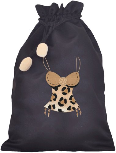 (Strings Leopard Cami Lingerie Bag)