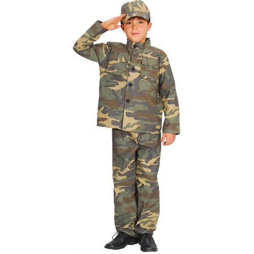 BOYS ARMY ACTION COMMANDO COSTUME FANCY DRESS AGES 3-10 YEARS ALL SIZES -