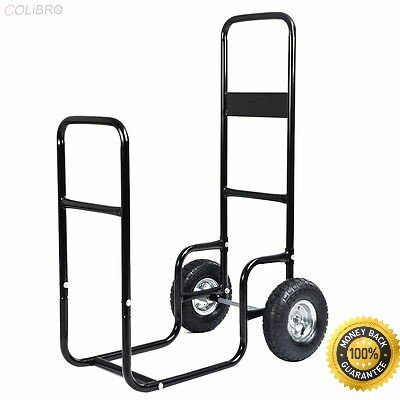 COLIBROX-- Firewood Carrier Wood Mover Hauler Fire Rack Caddy Cart Dolly Rolling Airbrush Compressor Kit Dual-Action Spray Air Brush Set Tattoo Nail Art Paint