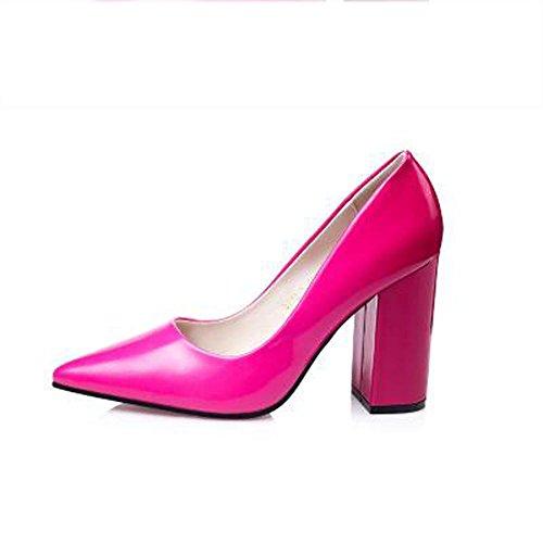 L@YC Frauen Fersen Fr¨¹hling Herbst Komfort PU B¨¹ro & Karriere Casual Stiletto Ferse Rosa Rot Violett Blau Pink