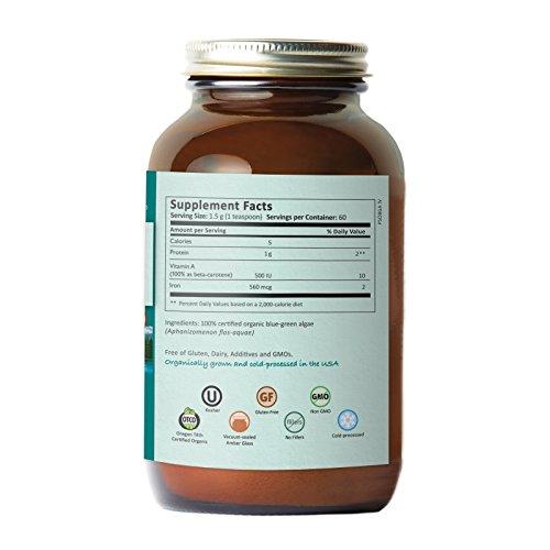 Pure Synergy USDA Organic Klamath Blue Green Algae Powder (3.2 oz) Fully Tested, Non-GMO by Pure Synergy (Image #3)