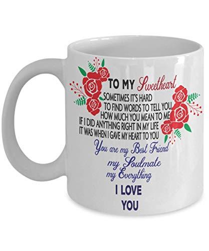 To My Sweetheart Coffee Mug Valentines Wedding (Adobe Sweet)