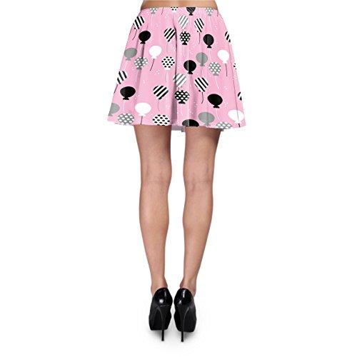 Party Balloons Skater Skirt Rock XS-3XL Pink mXp6kT