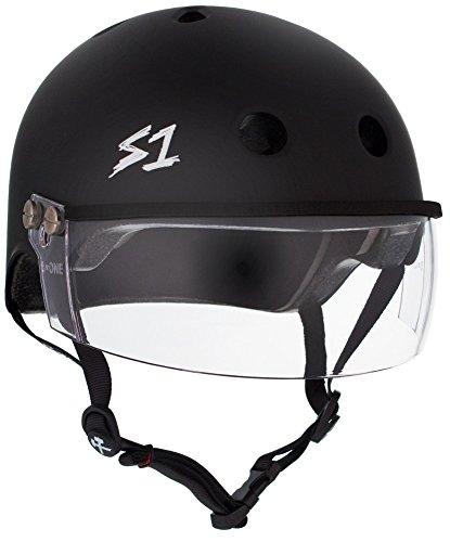 S-ONE Lifer Visor CPSC - Multi-Impact Helmet -Black Matte - Medium (21.5