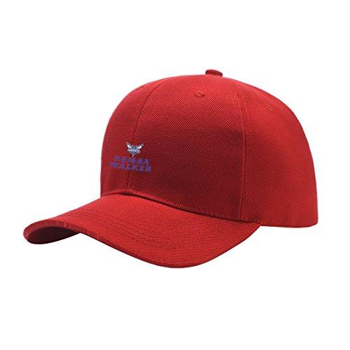 AmandaPop Kemba Favorite Player Walker Red Peaked Hat Embroidered Logo Adjustable Fish Cap