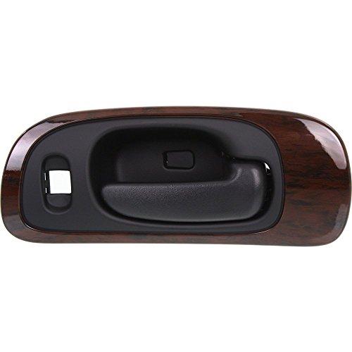 (Interior Door Handle compatible with CONCORDE 98-04 Front RH Inside Black w/Woodgrain Bezel w/ 6 Nuts Plastic)