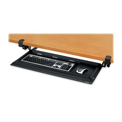 Keyboard Drawer,w/Foam Wrist Rest, 19-1/8''x19-3/4'', Black
