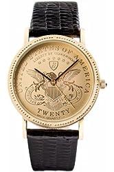 Conqueror LBRU-032014 Coin Gold Mens Watch