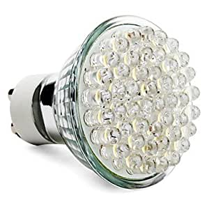GU10 2.5W 48-LED 240LM 2800-3500K Warm White Spot Bulb (220-240V)