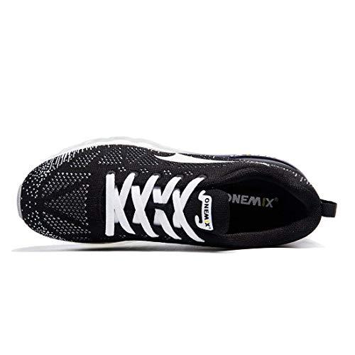 Flyknit ONEMIX 3D Running Blanc Max Knit Chaussures et Noir Homme Course Sneaker Sports Athletic pour de Air 7wWUrq7R