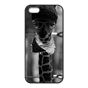 Inspiration Hipster Giraffe iPhone 5s Cases TPU Rubber Hard Soft Compound Protective Cover Case for iPhone 5 5s