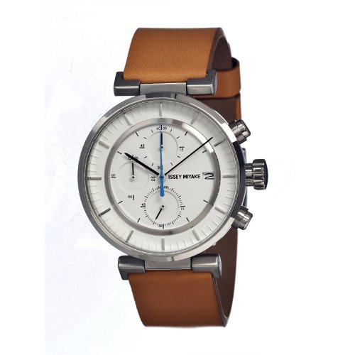 Issey Miyake W Silver-tone Chronograph White Dial Mens Watch SILAY008