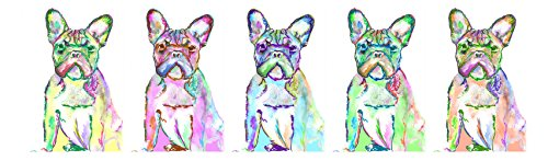 Large French Bulldog Canvas Art, French Bulldog Gift, Frenchie Mom, French Bulldog Panoramic Art Print, Dog Wall Art Print, Colorful Dog Wall Hanging Frenchie