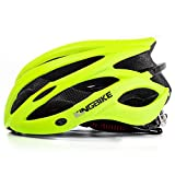 KINGBIKE Adult Bike Helmet Ultralight Bicycle Helmets Rain Cover Safety Rear Led Light Visor Men Women Road Cycling Biking (Green, L/XL(59-63CM))