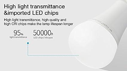 LIGHTEU® , 9W E27 Neues Design drahtlose E27 9W 2.4G RF Fernbedienung RGBW + CCT LED Glü hbirnen, 850LM, fut012