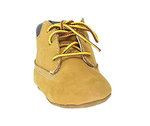 Timberland Baby Boy's Crib Shoes Bootie Wheat Soft Bottom 9589R Gift Set (2 Baby)