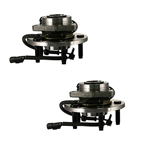 HU515113 x 2 (Set of 2) Brand New Wheel Bearing Hub Assembly Front Left and Right Side (5 Lug 4-Wheel ABS) Fit 06-09 Dodge Ram 1500